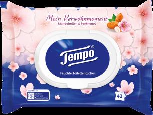 Tempo feuchte Toilettentücher Mein Verwöhnmoment Mandelmilch&Panthenol