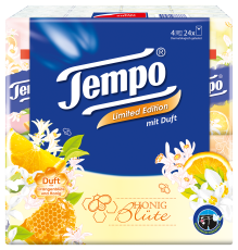"""Tempo Taschentücher mit Duft """"Honig Blüte"""""""